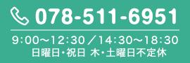 9:00〜12:30/14:30〜19:00(木曜午後・土曜午後・日曜・祝日は休診)